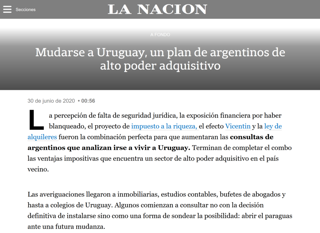 Nota La Nación por Lucila Marti Garro y Carla Quiroga