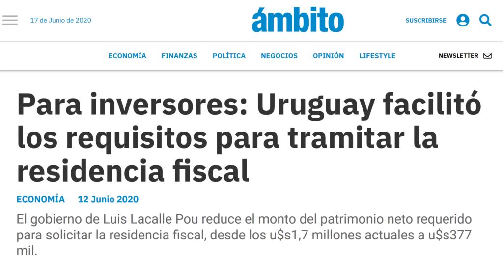 nota de ámbito financiero Argentina